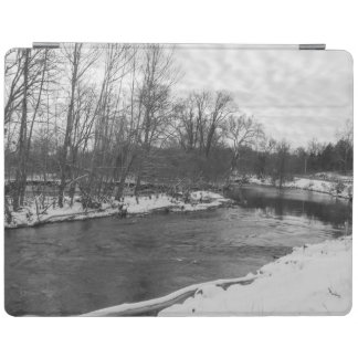 Snow Beauty James River Grayscale iPad Cover