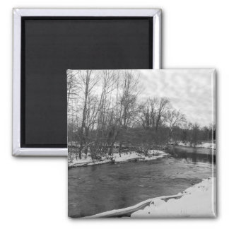 Snow Beauty James River Grayscale Magnet
