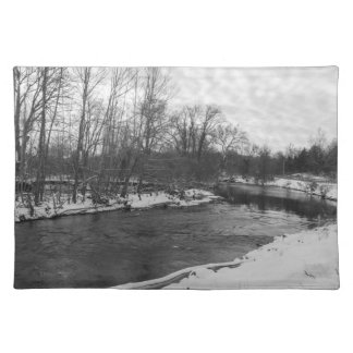 Snow Beauty James River Grayscale Placemat