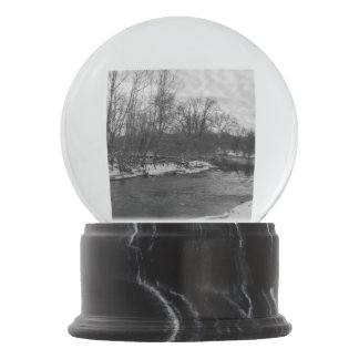 Snow Beauty James River Grayscale Snow Globes