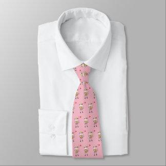 Snow bell in love pink tie