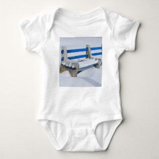 Snow Bench Baby Bodysuit