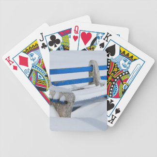 Snow Bench Bicycle Playing Cards