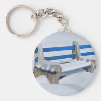 Snow Bench Key Ring