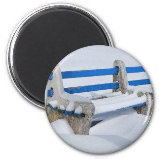 Snow Bench Magnet