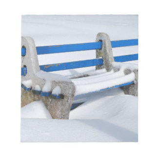 Snow Bench Notepad