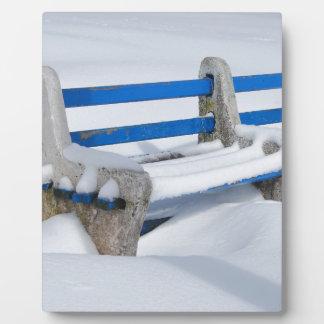 Snow Bench Plaque