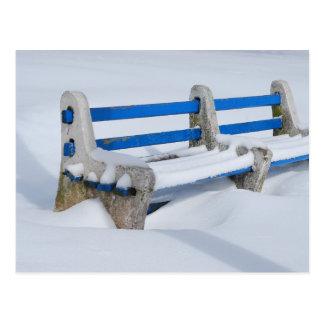 Snow Bench Postcard