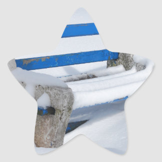 Snow Bench Star Sticker