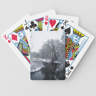 Snow Bicycle Playing Cards