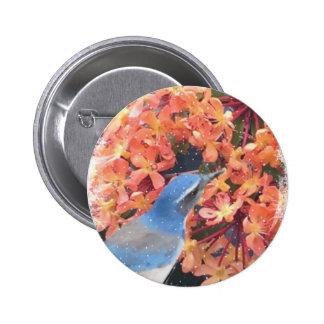 Snow Bird 6 Cm Round Badge