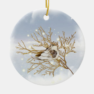 Snow Bird Christmas Ornament