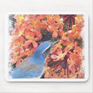 Snow Bird Mouse Pad