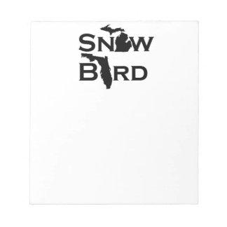 Snow Bird Notepad