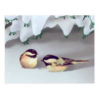 SNOW BIRDS by SHARON SHARPE Postcard