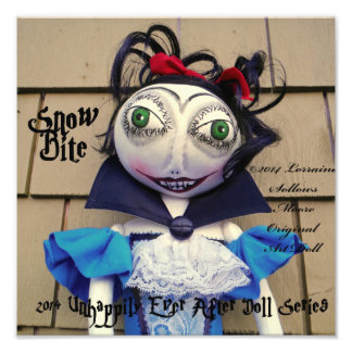 Snow Bite Vampire Zombie Fairy Tale Doll Photo Print