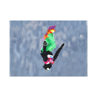 Snow Boarder at Sochi Gallery Wrapped Canvas