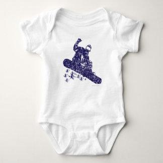 Snow-Boarder Baby Bodysuit