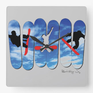Snow Boarding Free Style Clock