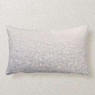 Snow Bokeh Lumbar Pillow