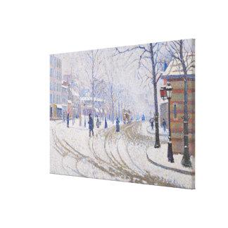 Snow, Boulevard de Clichy, Paris, 1886 Stretched Canvas Prints
