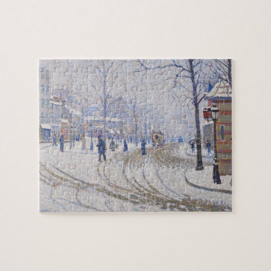 Snow, Boulevard de Clichy, Paris, 1886 Jigsaw Puzzle