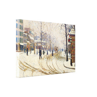 Snow, Boulevard de Clichy, Paris by Paul Signac Canvas Print