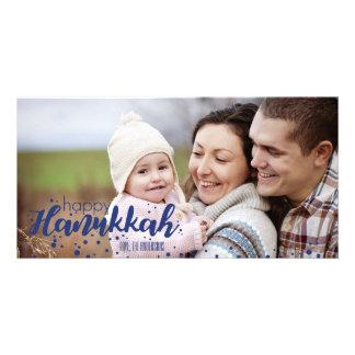 Snow Bubbles Happy Hanukkah Photo Card
