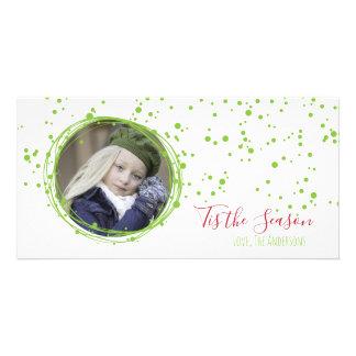 Snow Bubbles Holiday Wreath Photo Card