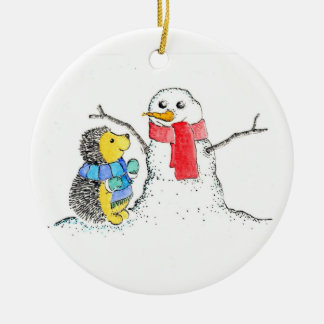 Snow Buddies Ceramic Ornament