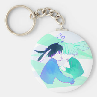 Snow Bunnies - Yuuri and Victor Basic Keychain