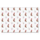 Snow Bunny and Reindeer Christmas Art Pattern Tissue Paper