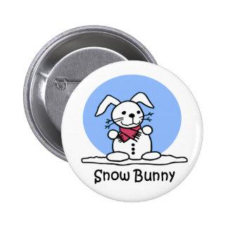 Snow Bunny button