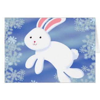 Snow Bunny Greeting Card