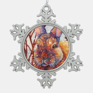 Snow Bunny - Winter Rabbit Ornament