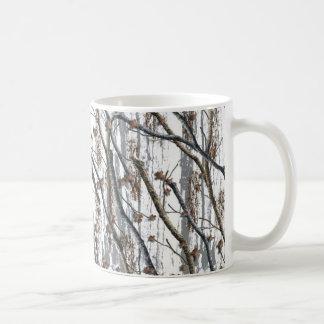 Snow camo coffee mug camouflage cup