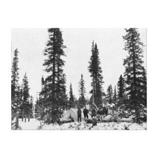 Snow Camping North of the Arctic Circle Canvas Print