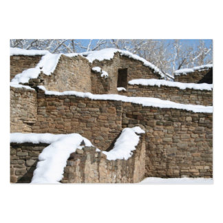 snow capped aztec wall structure pack of chubby business cards
