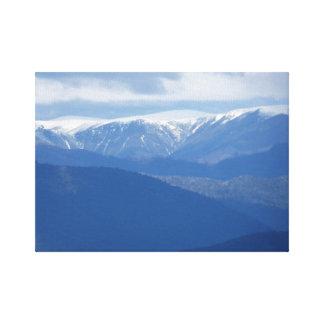 Snow-capped Mountain Australia Canvas Print