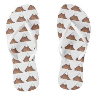 Snow-Capped Mountain Peak Mountains Camp Outdoor Thongs