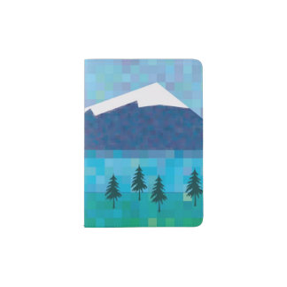 Snow capped mountains passport holder