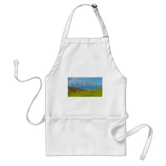 snow capped mountains standard apron