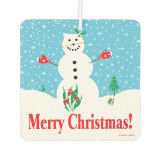"""Snow Cat"" Merry Christmas Air Freshener"