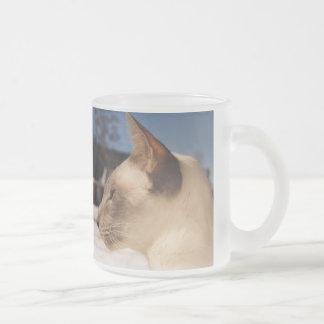 Snow Cat - Siamese Blue Point Profile Coffee Mug
