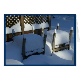 Snow Chairs Card