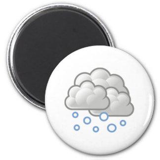 Snow Clouds 6 Cm Round Magnet