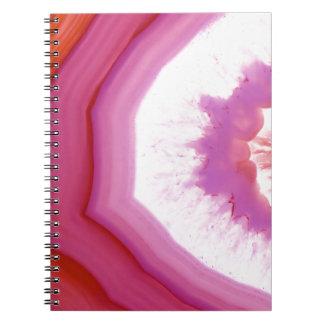 Snow Cone Agate Slice Spiral Notebook