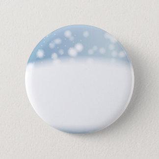 Snow Copy Space 6 Cm Round Badge