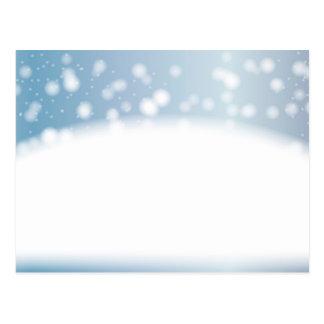 Snow Copy Space Postcard