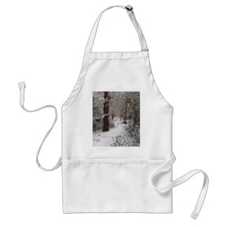 Snow Covered Ancient Woodland Standard Apron